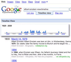 Google Timeline Search